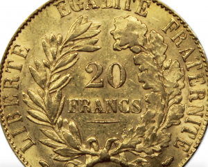 20 francs or napoléon Génie