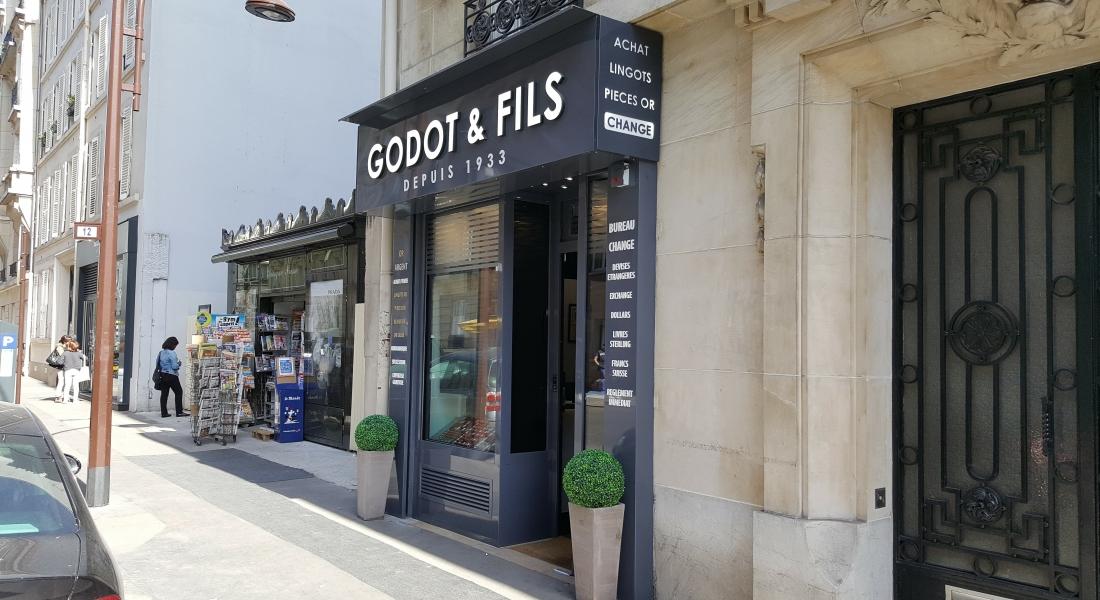 Godot & Fils: Comptoir d'or à Neuilly sur Seine