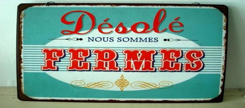 Fermeture annuelle Godot & Fils